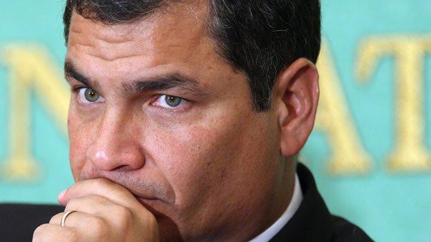 foto de rafael correa presidente del ecuador