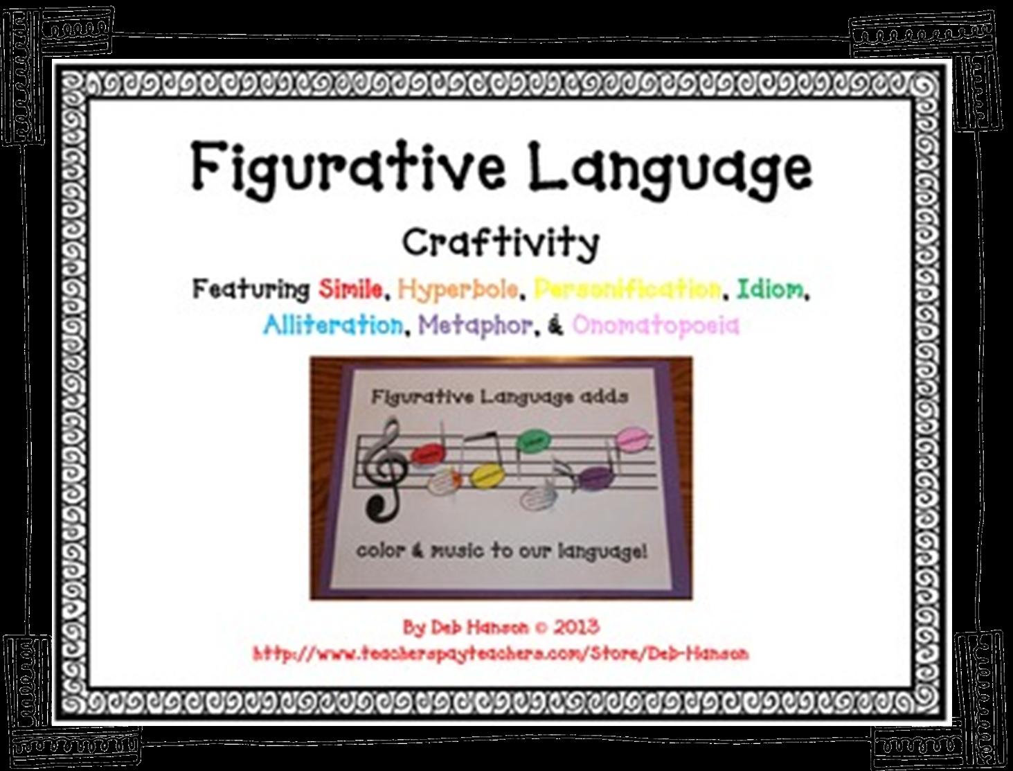 Diary Of A 5th Grade Teacher Figurative Language Craftivity