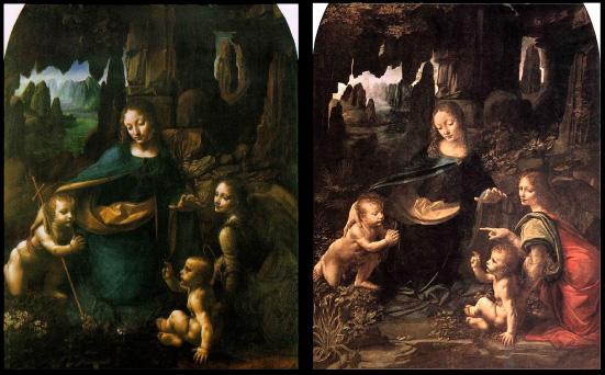 Da Vinci, obras, La virgen de las rocas.