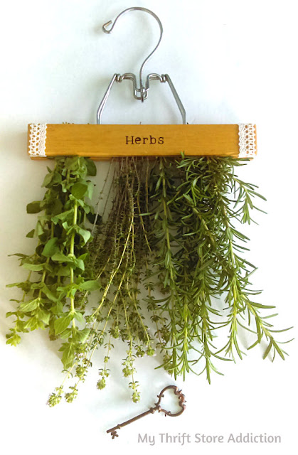 Vintage herb drying hanger