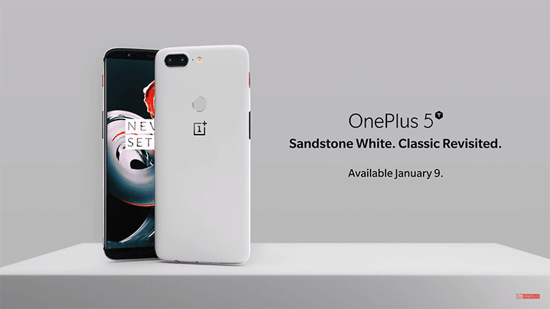 OnePlus 5T Sandstone White announced