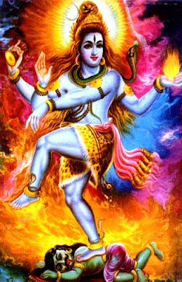 Lord Shiva Dancing Shiva Tandava Nritya, with fire around him. Shiva Tandava Nritya is the devine dancing of Lord Shiva for creation, and destruction of the universe. Shiva Tandava Stotra was created by Ravana one of the greatest Shiva Bhakta of All times
