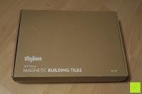 Karton: Playbees 100 Teile Magnetische Bausteine Set für 2D und 3D Form Konstruktionen, Regenbogenfarben Magnetspielzeug, Baukasten Magnetspiel, Magnetbausteine