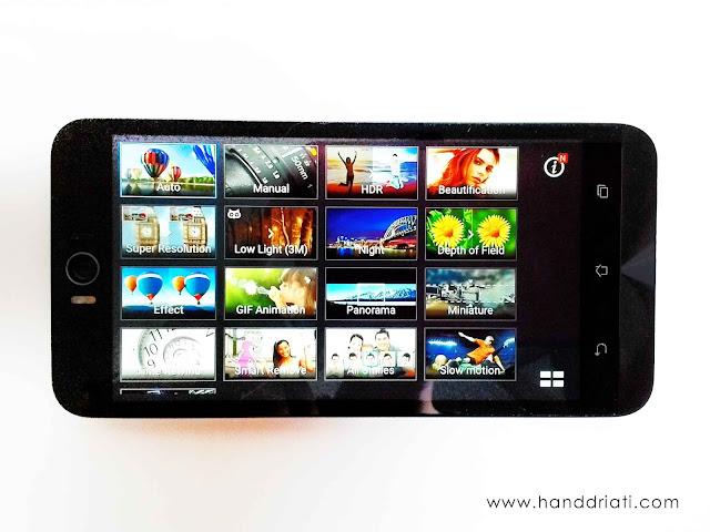 Pilihan Mode Kamera ASUS Zenfone Selfie