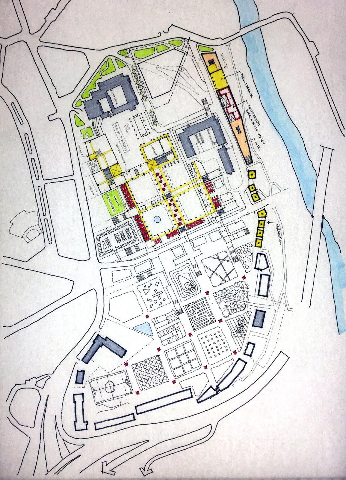 veliko tarnovo masterplan competition plan sketch