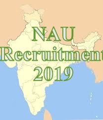 Navsari Agriculture University(NAU) Recruitment 2019
