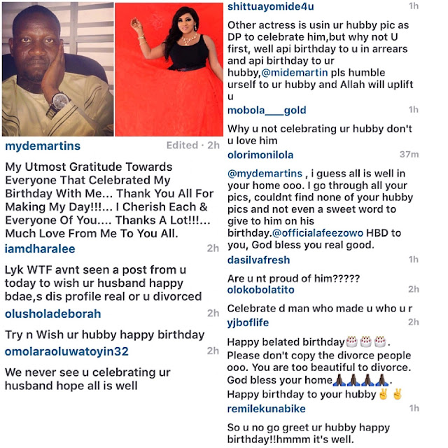 Mide Funmi Martins and husband break up