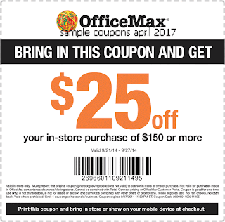 Office Max coupons april 2017