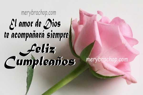 mensajes de feliz cumpleaños para amiga, frases cristianas para celebrar el cumpleaños de mi amiga, imagen tarjeta cumple por Mery Bracho