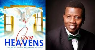 Open Heavens 1st October 2016
