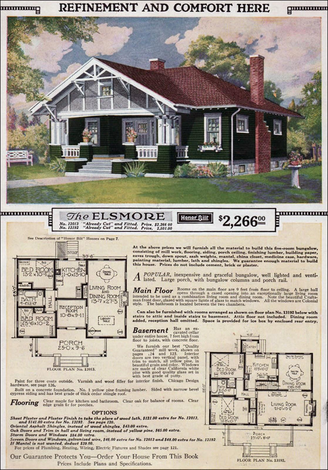 Cape Cod Style Homes Floor Plans Sears Elsmore
