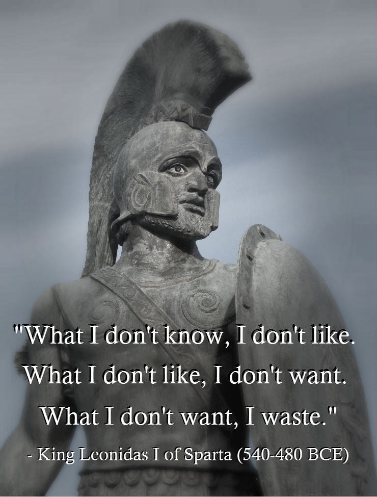 King Leonidas Real Mustache's Quotes