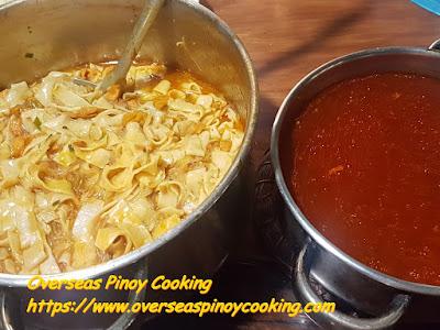 Vigan Miki Soup, plus Red Soup