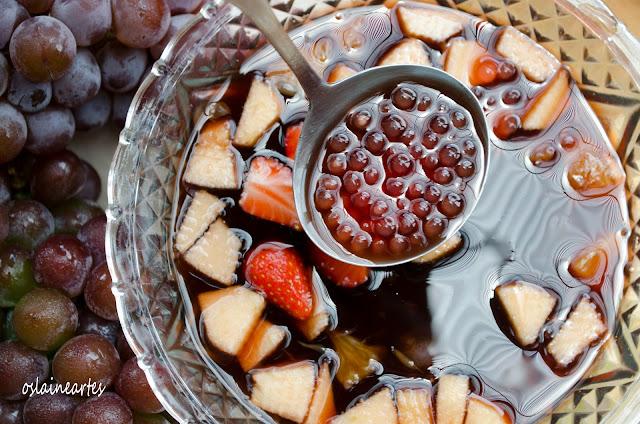 Sagu de Vinho com Frutas