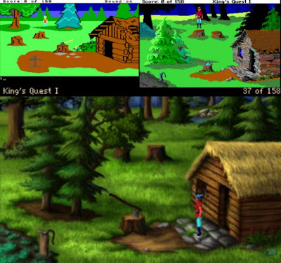Comparación King's Quest original vs remake 1990 vs Remake 2009 AGD