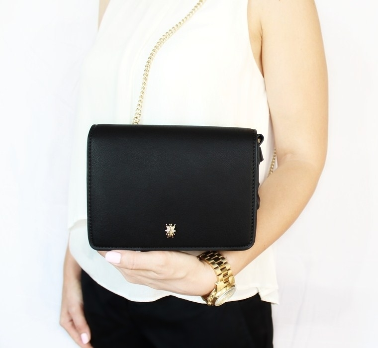 Nowości w mojej garderobie i nie tylko Czarna torebka na złotym łańcuszku Zara