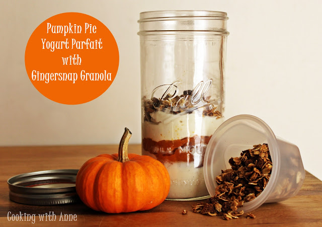 Pumpkin Pie Yogurt Parfait with Gingersnap Granola