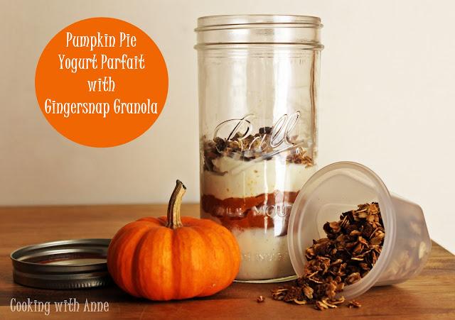Pumpkin Pie Yogurt Parfait with Gingersnap Granola