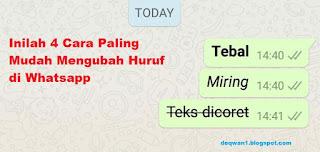 cara mengubah huruf di whatsapp