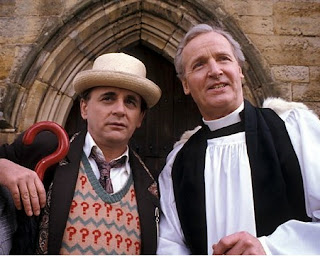 Sylvester McCoy and Nicholas Parsons