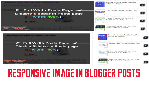 make blogger Posts images responsive dynamically in 5 Steps