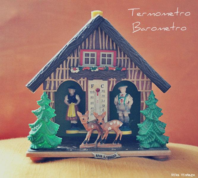 objetos vintagenavideños, navidad, navideños, decorar, decoracion navidad, barometro termometro bambis, casa, casita