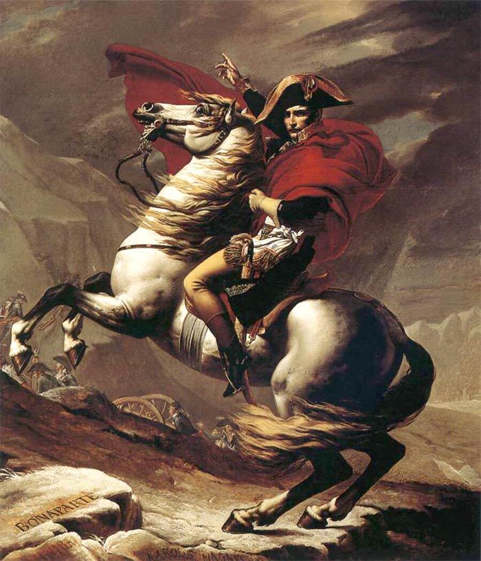 Портрет Наполеона, выполненный Жаком Луи Давидом