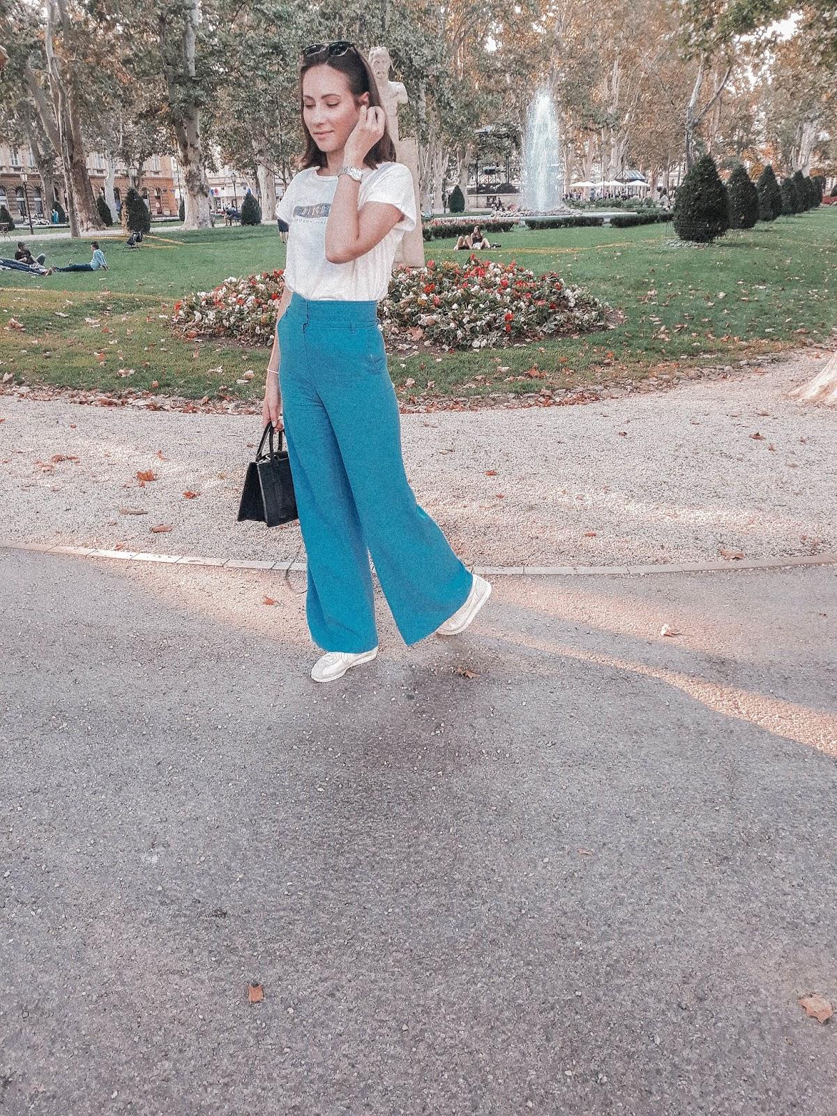 Blue Palazzo Trousers