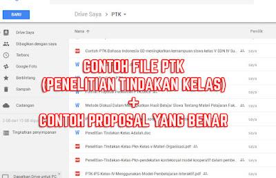 Download File PTK (Penelitian Tindakan Kelas) Beserta Proposal Lengkap SD