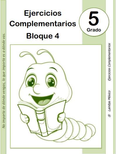 5to grado primaria - material educativo - bloque 4