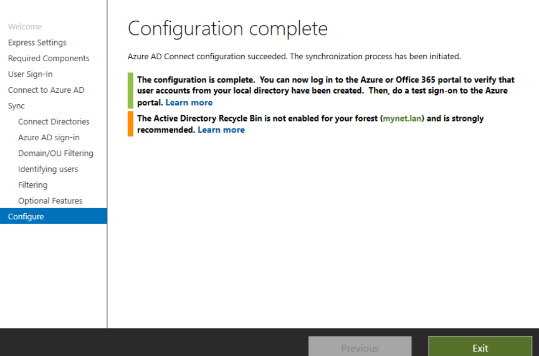 My Tech Blog: Office 365 - migrate Azure AD Connect