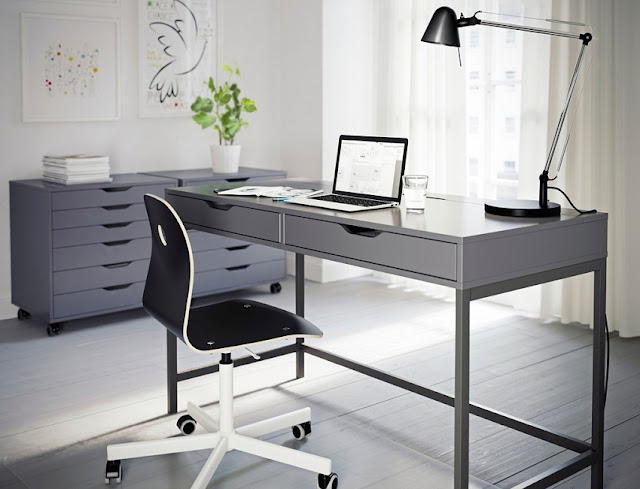 best home office desk grey with drawer for sale cheap