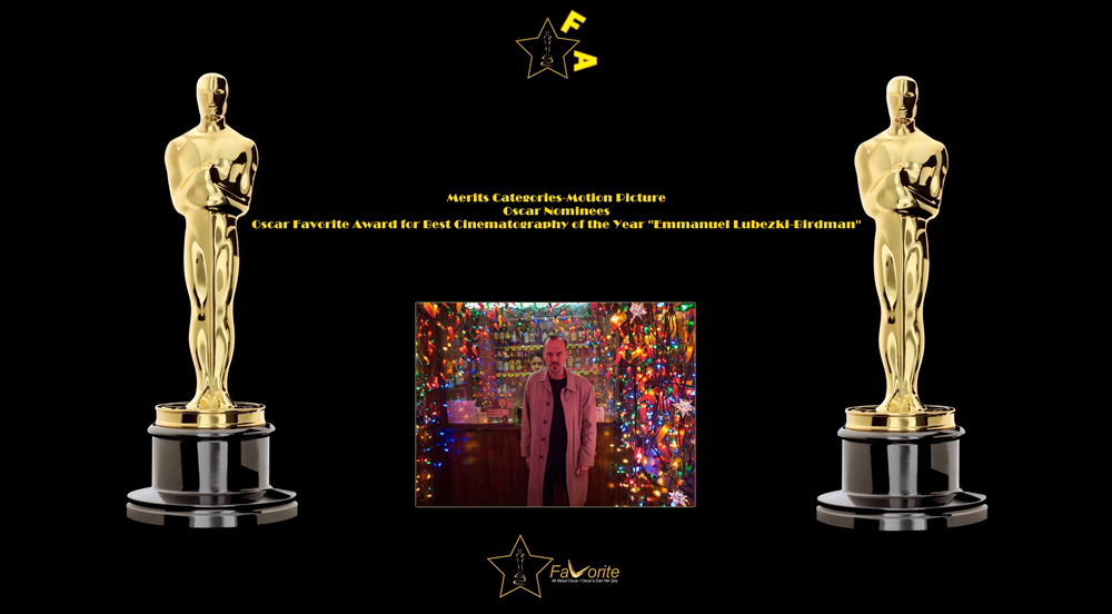 oscar favorite best cinematography award emmanuel lubezki birdman