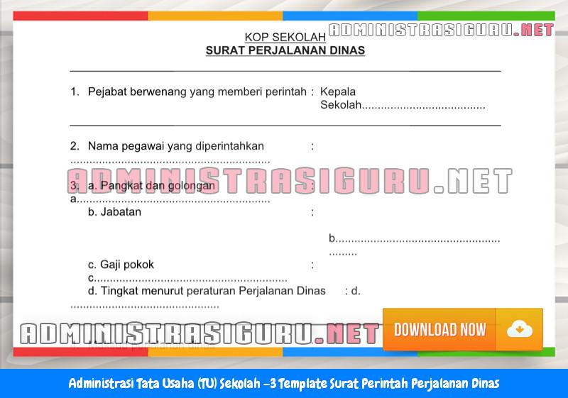 Contoh Format Surat Perintah Perjalanan Dinas Administrasi Tata Usaha Sekolah Terbaru Tahun 2015-2016.docx