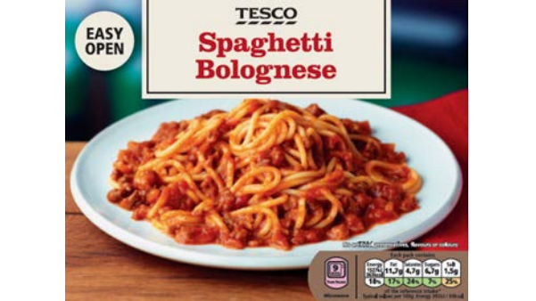 Tesco Recalls Own Brand Frozen Spaghetti Bolognese Due To Undeclared