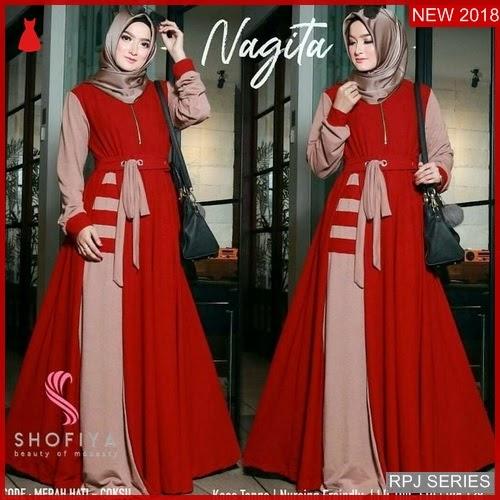 RPJ190D193 Model Dress Nagita Cantik Dress Wanita