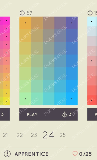 I Love Hue Apprentice Level 24 Solution, Cheats, Walkthrough