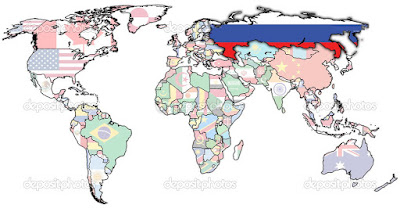 map russia in the world flag