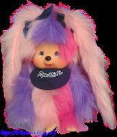 Monchhichi Am I Monchhichi Girl Pink Purple référence 234196