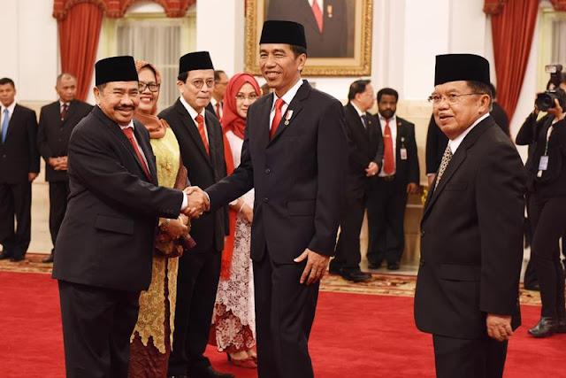 Dilantik Presiden Jokowi, K.A. Badaruddin Jabat Kepala PPATK Yang Baru