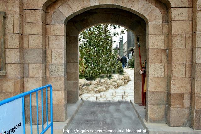 Entrada para praça de Nossa Senhora do Pilar, mercado de Natal