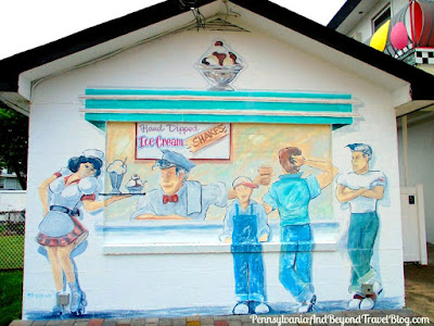 Cool Scoops Ice Cream Parlor Street Art Wall Mural in Wildwood - New Jersey