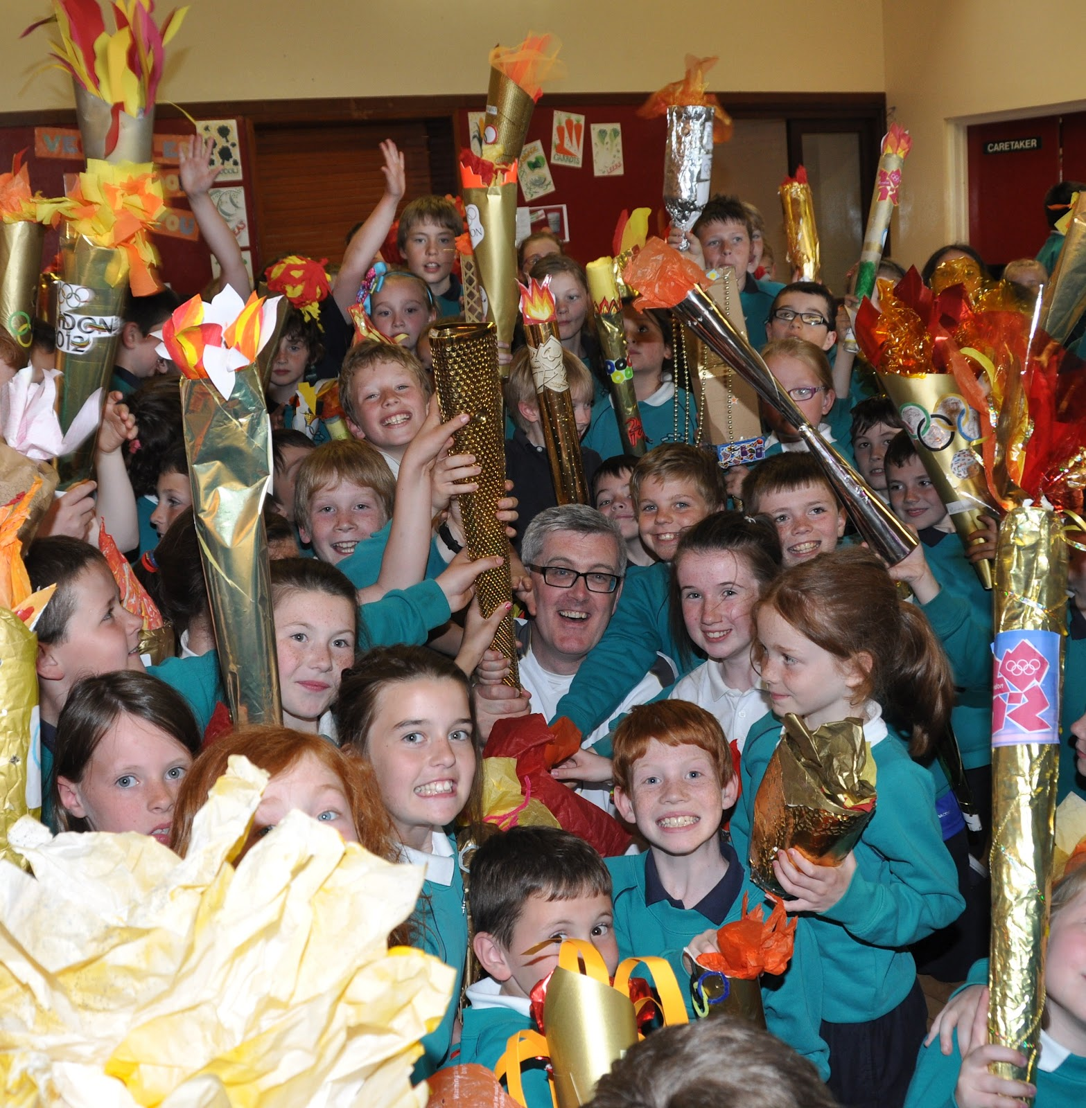 Life In Sttrick S P S Armagh Olympic Torch Visits St