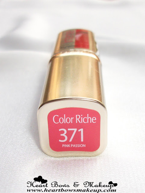 LOreal Color Riche Intense Lipstick 371 Pink Passion Review, Swatches, Price & Buy Online India