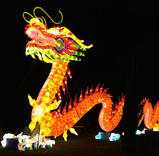 Pic of enormous Chinese dragon lantern