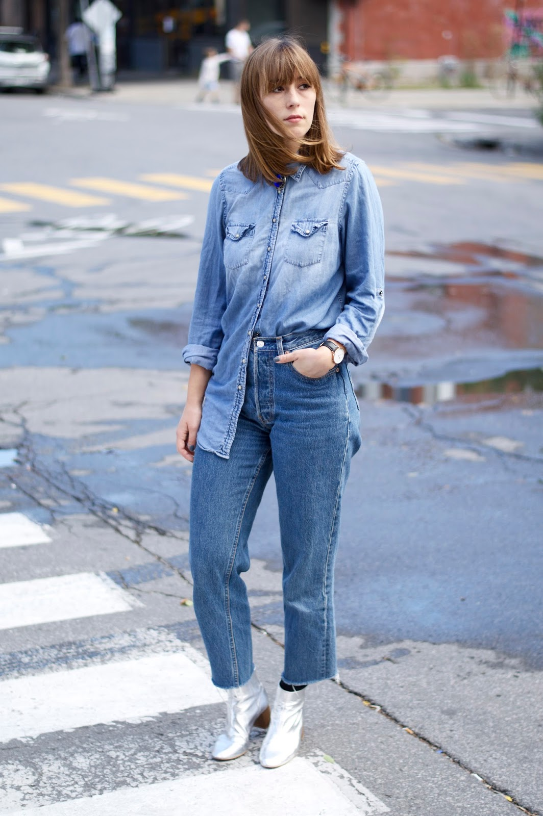 Double denim for AW16 trends