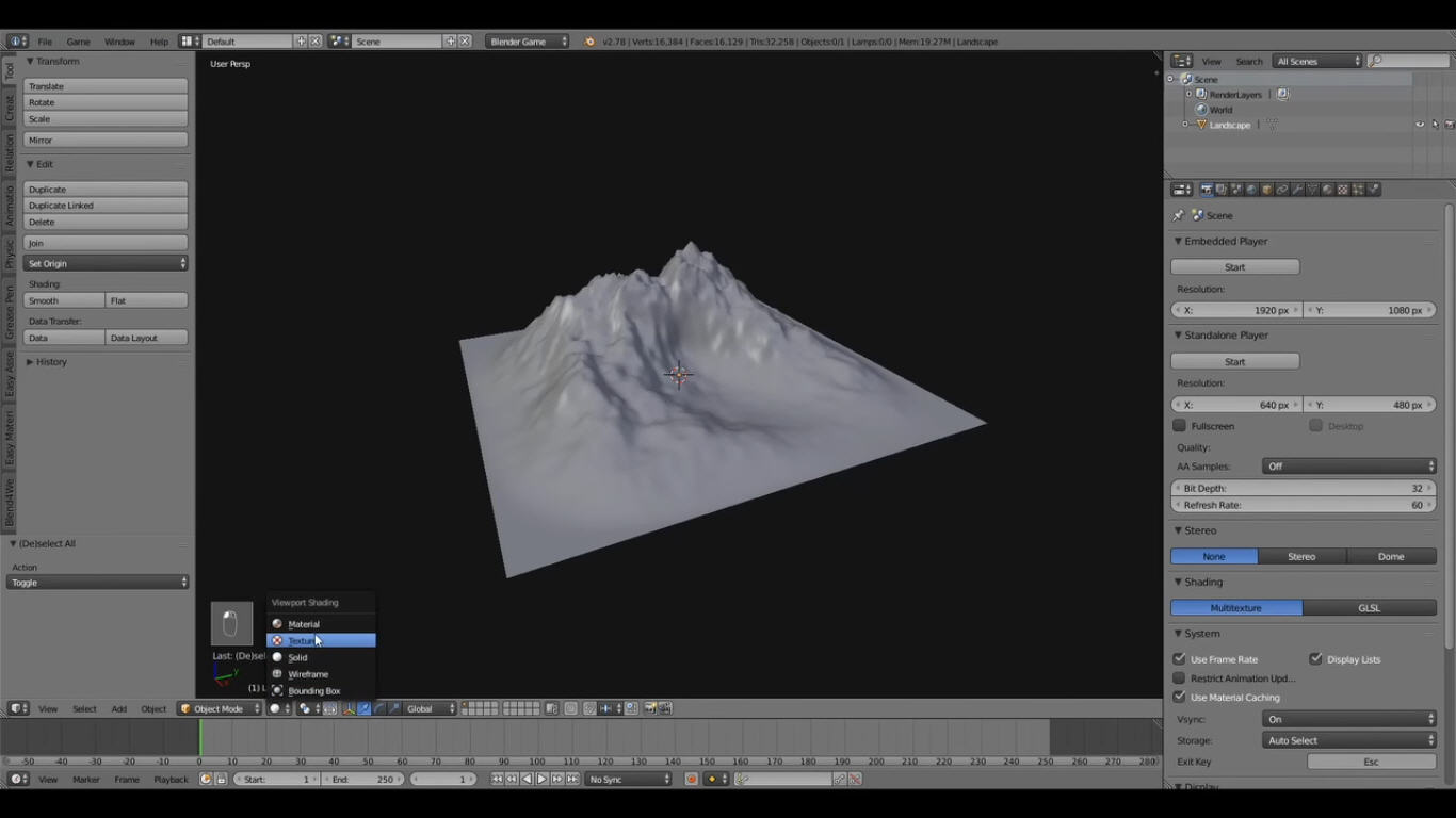 Creating A Terrain With Texture Painting in Blender CG TUTORIAL