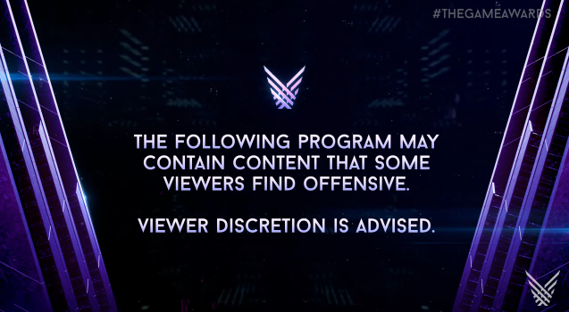 The Game Awards 2017 content warning viewer discretion is advised