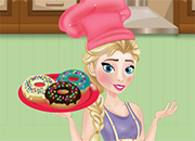 Elsa Cooking Donuts Frozen juego