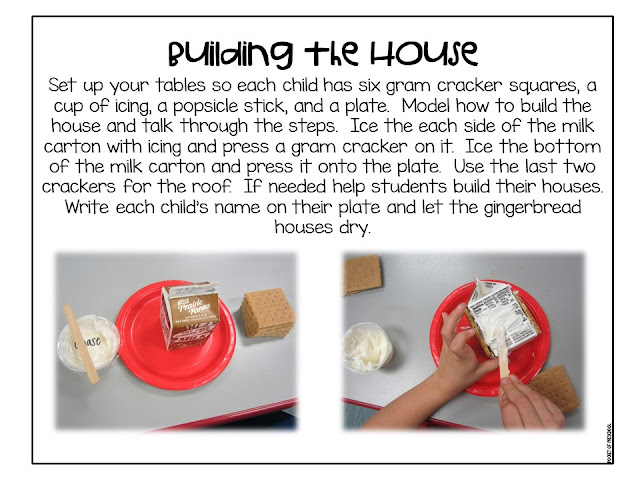 How to make milk carton gingerbread houses in the classroom. Perfect for a gingerbread theme in a preschool, pre-k, and kindergarten classroom.